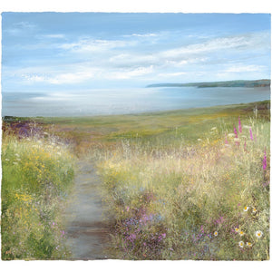 Limited edition print of St Austell Bay, Cornwall by artist Amanda Hoskin