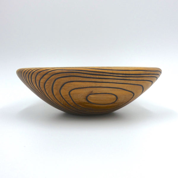 Carved and Painted Ash Bowl