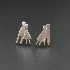 Silver Couple Earrings by Jeweller Becky Crow