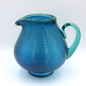 Hand blown glass jug by glassmaker Bob Crooks
