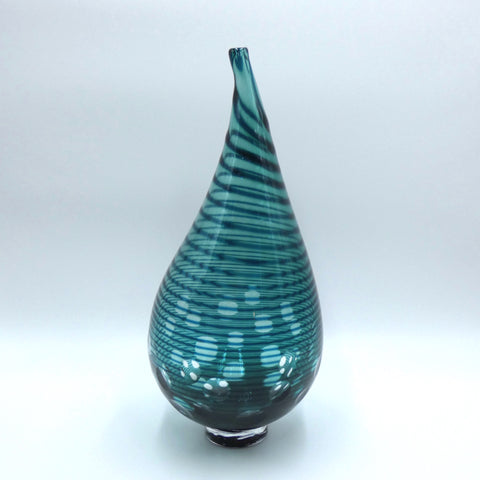 Hand blown glass vase by glassmaker Bob Crooks