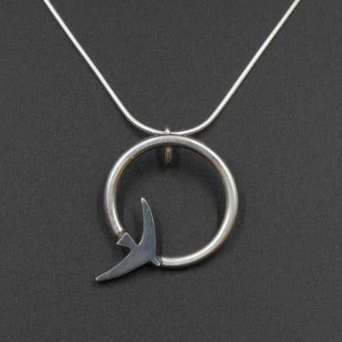 Silver Swift Pendant by Jeweller Becky Crow