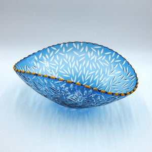 Hand blown glass bowl by glassmaker Bob Crooks