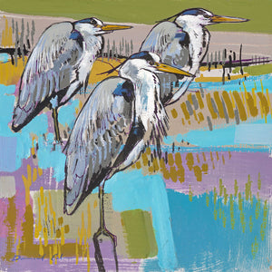 Open edition print of Herons by artist Daniel Cole