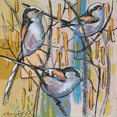 Open edition print of Long Tailed Tits by artist Daniel Cole
