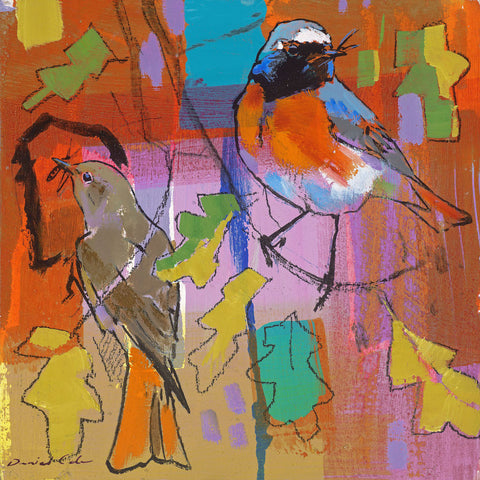 Open edition print of Redstarts by artist Daniel Cole