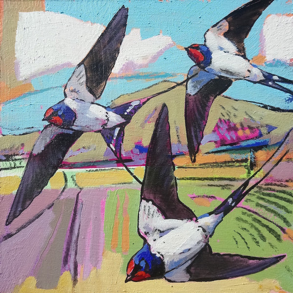 Open edition print of Swallows by artist Daniel Cole