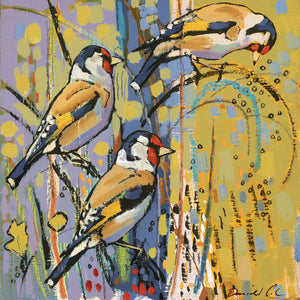 Open edition print of Goldfinches by artist Daniel Cole