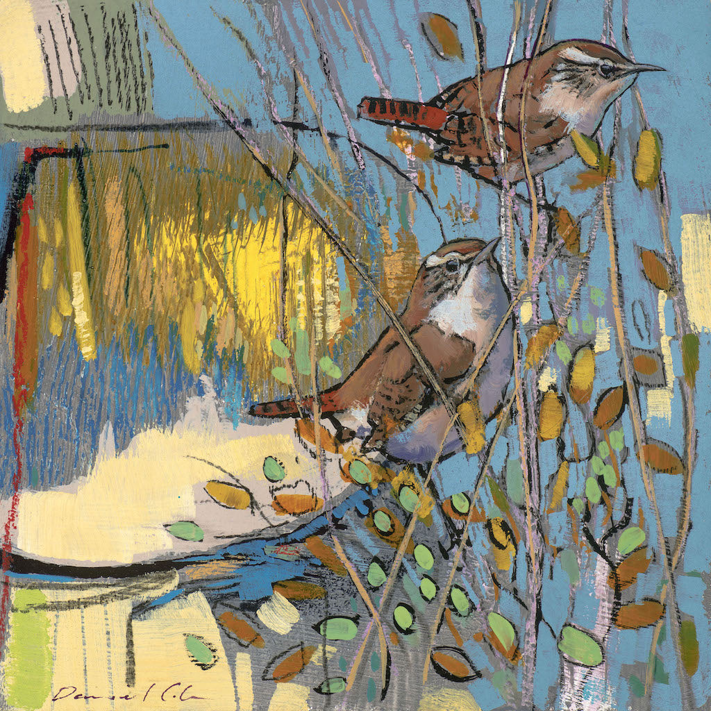 Open edition print of Wrens by artist Daniel Cole