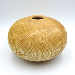 Ash vase by woodturner Howard Moody