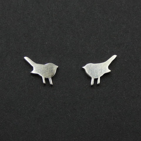 Tiny bird stud earrings by jeweller Helen Shere