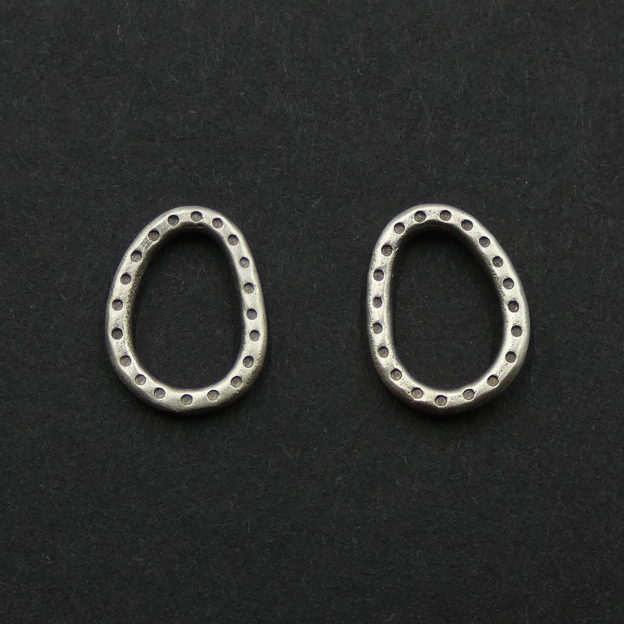 Dotted hoop studs by jeweller Helen Shere