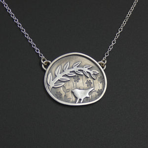 Tiny garden necklace by jeweller Helen Shere