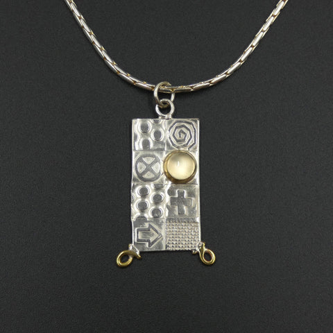 Large pendant by jewellers John and Dawn Field