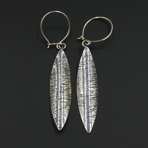 Textured earrings by jewellers John and Dawn Field