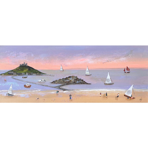 Painting of St Michael's Mount by artist Lucy Young