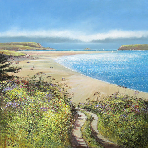 Limited edition print of a path down to the beach near Padstow