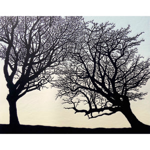 Limited edition linocut by printmaker Richard Shimell