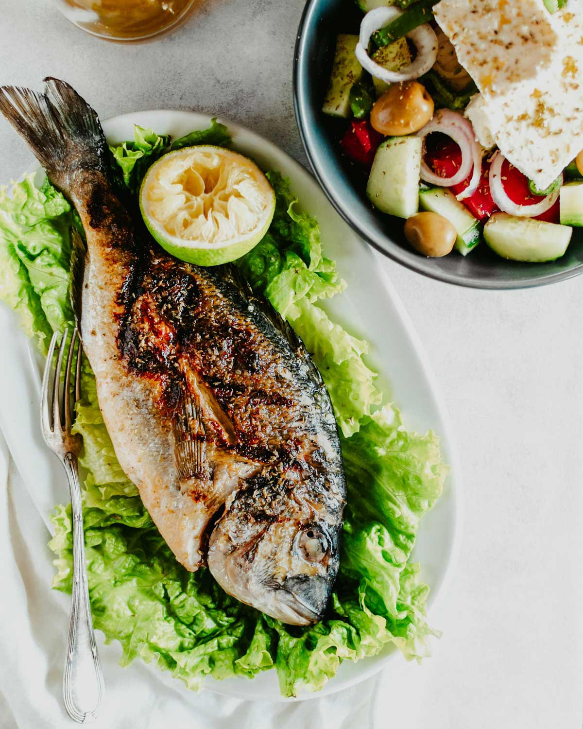 Grilled Gilt-head Bream | دنيس مشوي