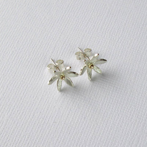Daisy Collection Silver & Gold Studs