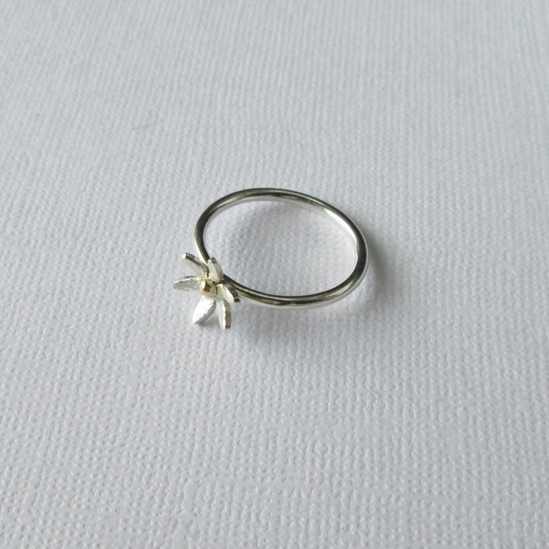 Daisy Collection Silver & Gold Ring