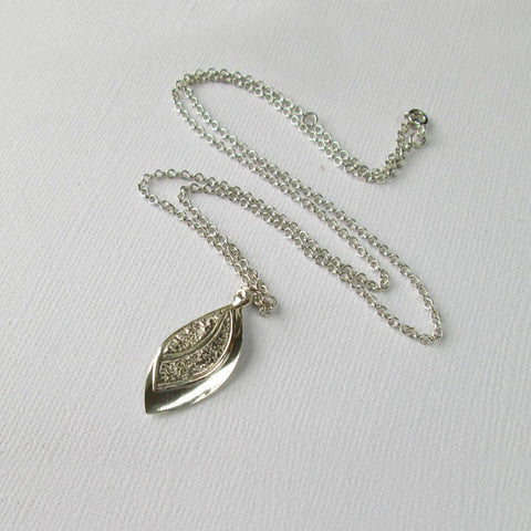 Silver Leaf Collection - Double Pendant & Chain