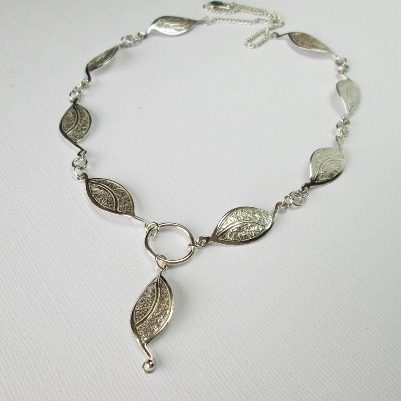 Amanda Hood Designer Jeweller Full Silver Leaf Necklace