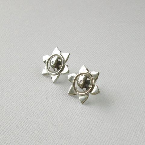 Sunflower Collection - Silver Earrings