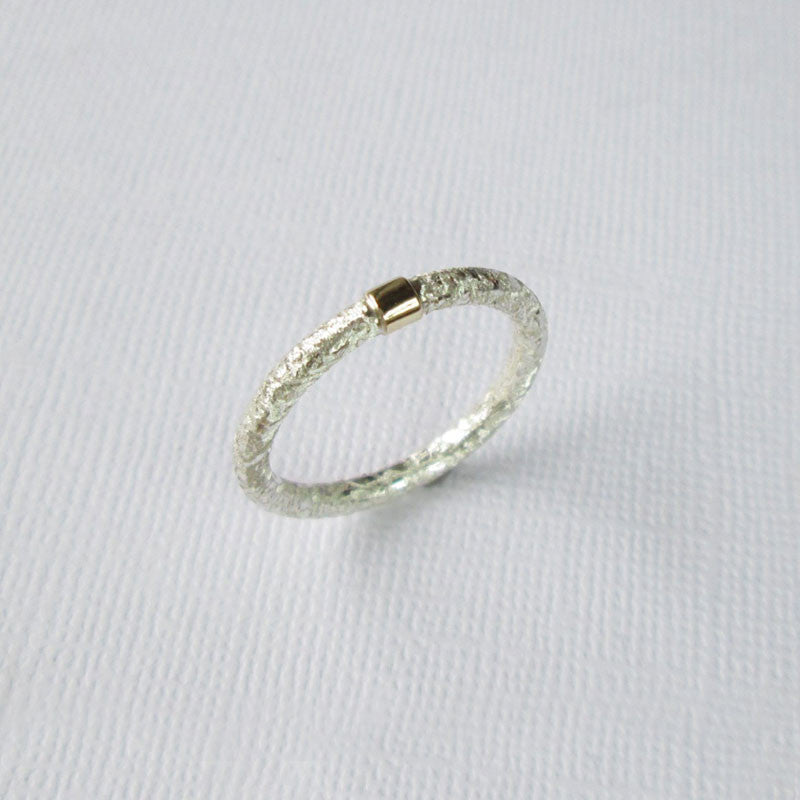 Textured Satin Collection Silver & Gold Ring
