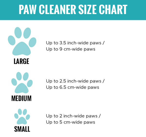 paw cleaner sizing