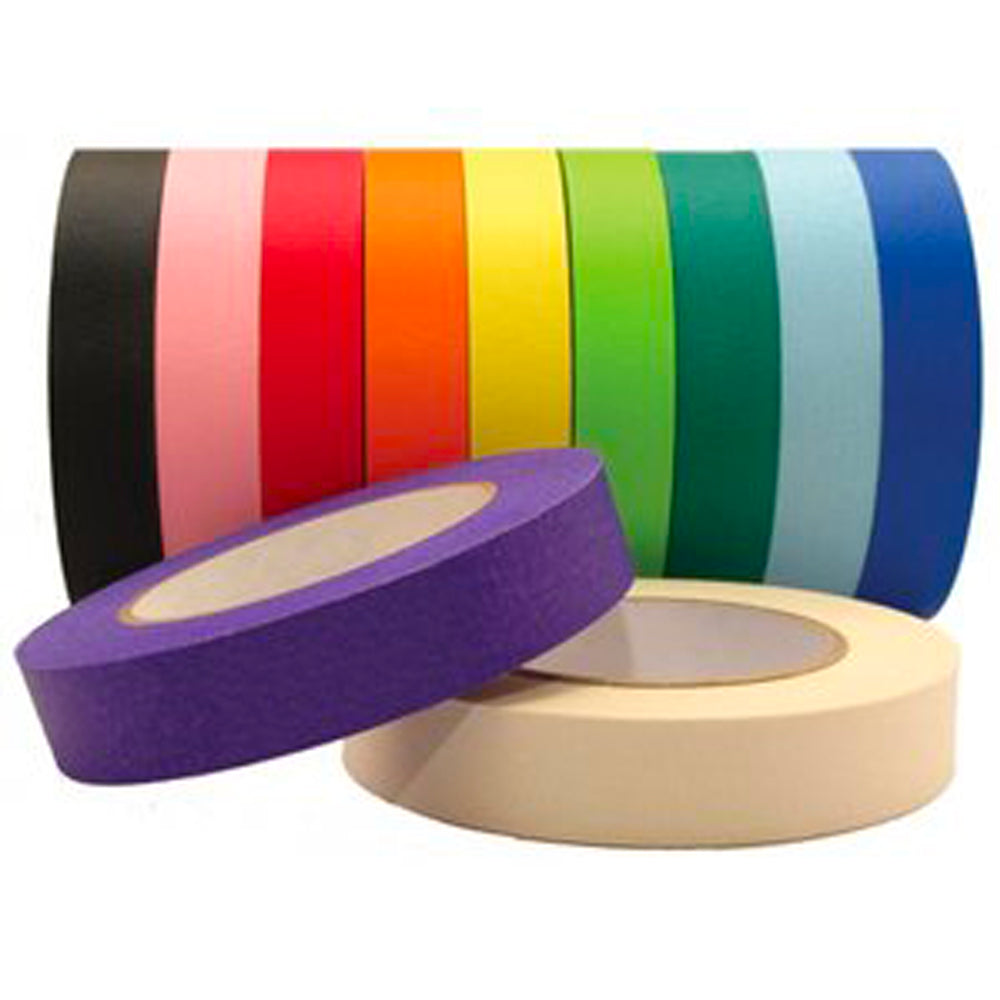 "1"" x 55 YDS Masking Tape - 11 Pack Assorted Colors"
