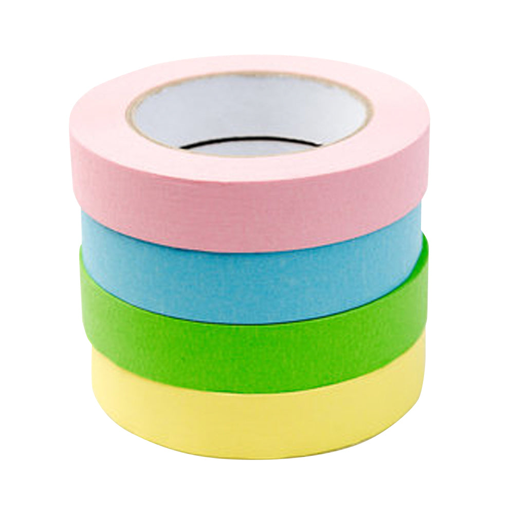 "1"" x 55 YDS Masking Tape - 4 Pack Assorted Pastel Colors"