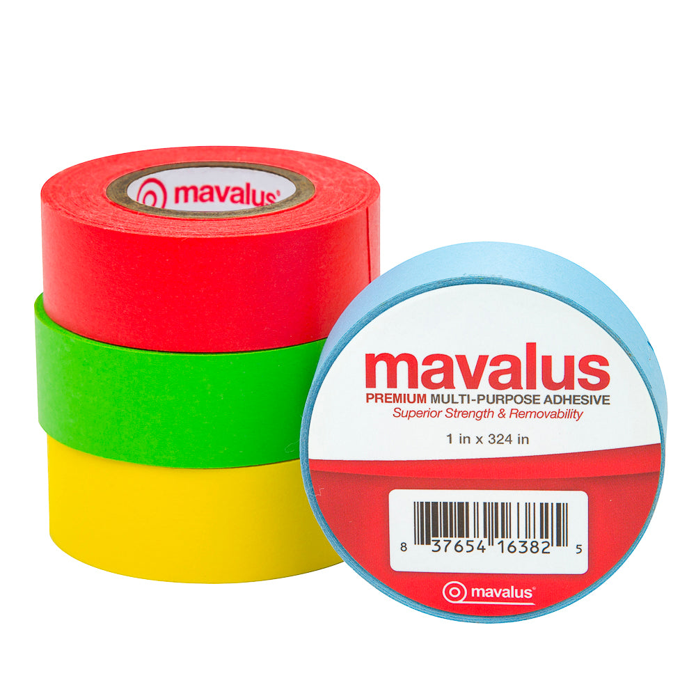 "3/4"" x 324"" Mavalus Tape - 4 Pack Assorted Colors"