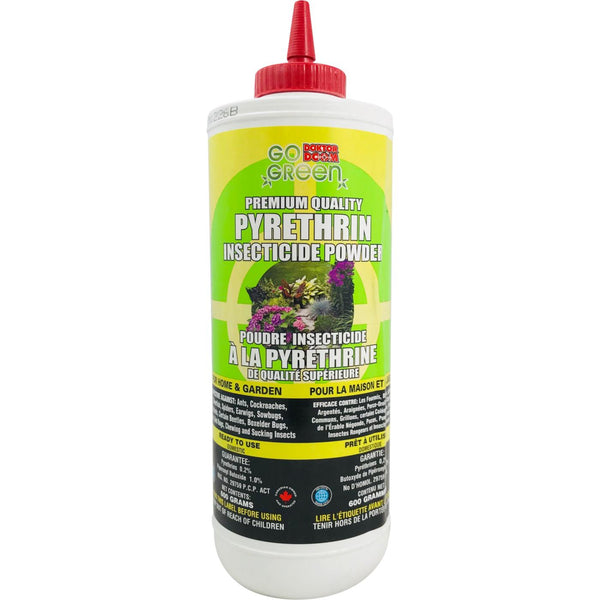 Pyrethrin Insecticide Powder (600g bottle) - Go Green