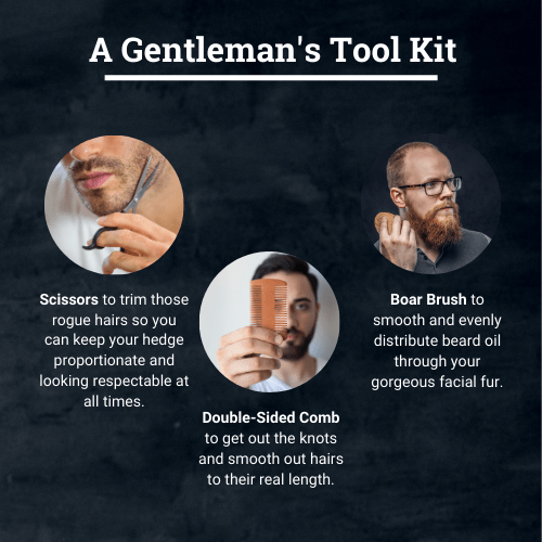Polished Gentleman Club Beard Grooming Kit with Brush, Scissors, and Comb upsell