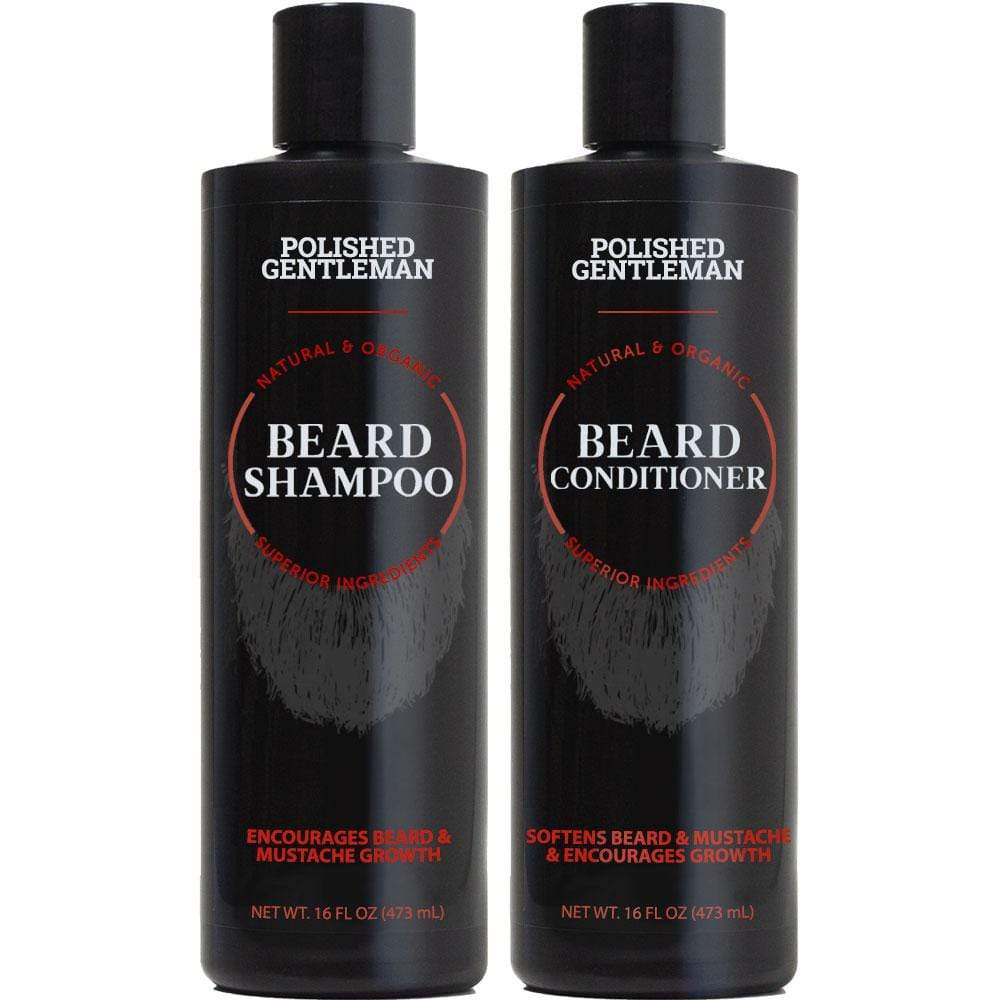 Polished Gentleman Club Beard Growth Shampoo and Conditioner Set Gentleman Beard (16 oz)