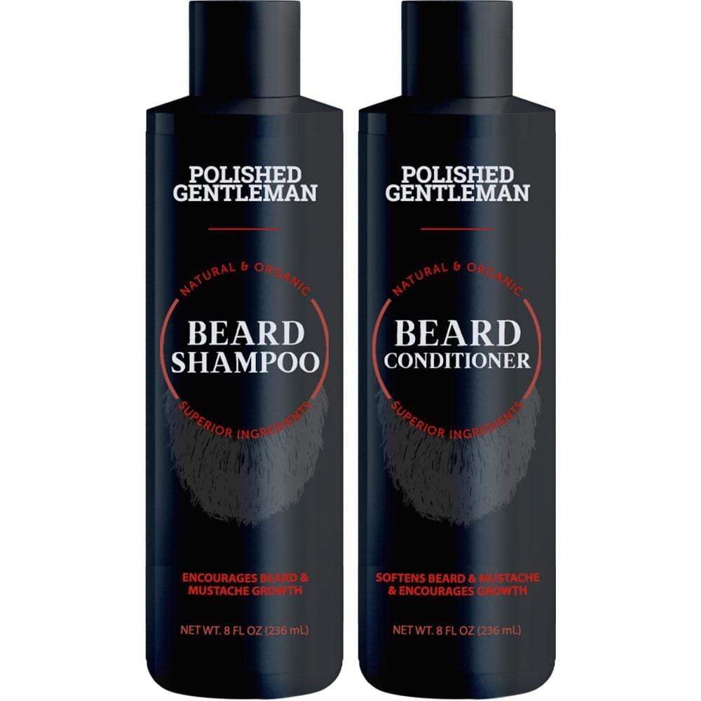 Polished Gentleman Club Beard Growth Shampoo and Conditioner Set Respectable Beard (8 oz)