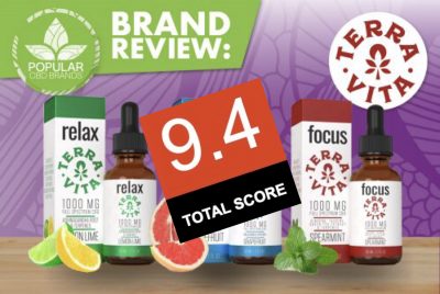 PopularCBDBrands.com rates TerraVita CBD 9.4 out of 10! Read the full review!