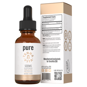 TerraVita CBD pure full spectrum CBD oil with 500mg of CBD.