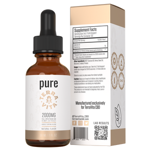 TerraVita CBD pure full spectrum CBD oil with 2000mg of CBD.