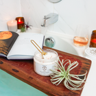 Load image into Gallery viewer, TerraVita Revive CBD bath soak for moisturizing and skin detox. 250mg of broad spectrum cbd with epsom salt, botanicals and essential oils.