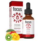 Load image into Gallery viewer, TerraVita CBD Focus: CBD oil for focus and energy. 2000mg of full spectrum CBD hemp extract with ginseng, taurine and green tea extract in kiwi mango breeze flavor.
