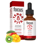 Load image into Gallery viewer, TerraVita CBD Focus: CBD oil for focus and energy. 4000mg of full spectrum CBD hemp extract with ginseng, taurine and green tea extract in kiwi mango breeze flavor.
