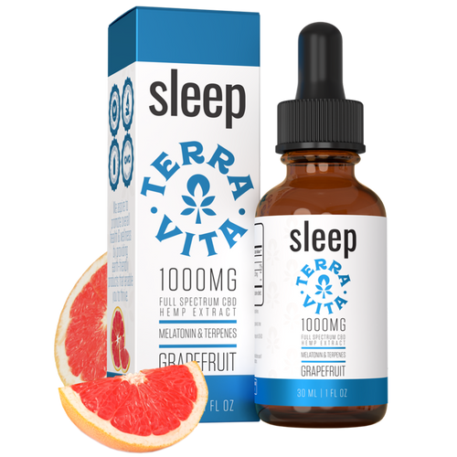 TerraVita provides the Best CBD Oil for Sleep by combining 1000mg of Premium Full Spectrum CBD with sedating terpenes and Melatonin - helping your body and mind relax to get the restorative nights sleep you deserve!