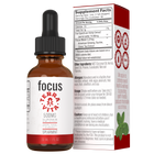 Load image into Gallery viewer, TerraVita CBD Focus: CBD oil for focus and energy. 500mg of full spectrum CBD hemp extract with ginseng, taurine and green tea extract in spearmint flavor.