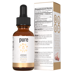 TerraVita CBD pure full spectrum CBD oil with 4000mg of CBD in peppermint flavor.