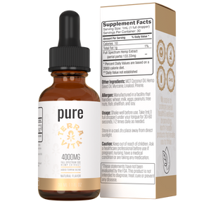 TerraVita CBD pure full spectrum CBD oil with 4000mg of CBD.