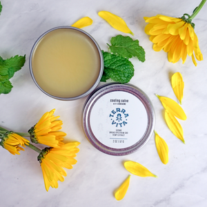 TerraVita Cooling CBD Salve with lidocaine and arnica in a 2oz container.