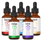 Load image into Gallery viewer, TerraVita Ultimate CBD Oil Bundle. Includes each of our tinctures- focus, relax, sleep, ease and pure with 4000mg of full spectrum CBD oil.