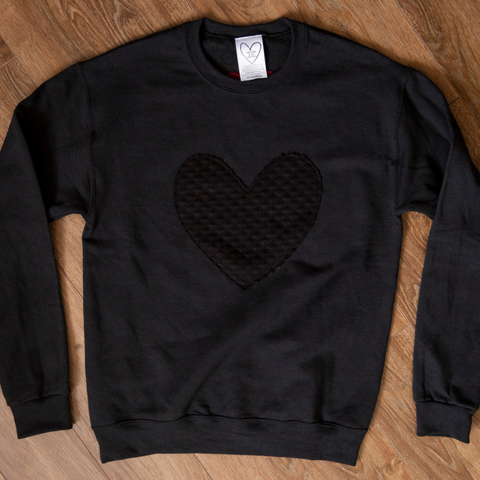 Conscious Heart Sweater- Black Heart